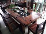 老船木茶桌椅实木中式仿古家具古船木茶桌客厅户外阳台茶桌椅组合