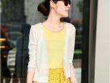 新品2014韩国马卡龙含真丝蚕丝小开衫棉麻夏款七分袖百搭女小外套