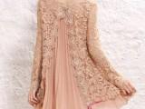 厂家批发2014春装新款 韩版宽松长袖女装 蕾丝拼接大码连衣裙女