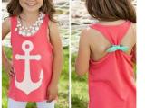 ebay速卖通爆款海军风格印花船锚小背心童装版