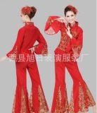新款秧歌服扇子舞蹈服装演出服腰鼓服装民族舞广场舞蹈服特价