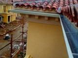 批发零售彩铝雨水槽 PVC成品檐沟 PVC天沟落水系统