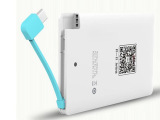 厂家直销定制自带线聚合物超薄卡片移动电源名片式手机充电宝批发