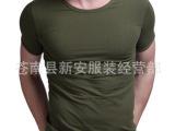 淘宝热卖男士短袖T恤 弹力纯棉圆领 紧身打底衫背心夏 无缝 批发