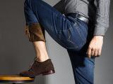 冬季男士弹力加绒牛仔裤韩版商务修身青年牛
