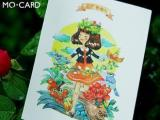 陌墨 手绘明信片 花与爱丽丝 8张