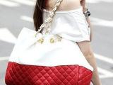 狮岭女包批发 时尚女包 韩版外贸原单菱格纹女包 单肩包