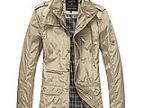 肩章2014新品薄款时尚休闲1045立领春大码夹克外套男装修身型