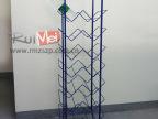 蓝色矿泉纯净水展示架  立式展示架  金属铁线展示架定制生产开发