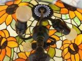 爱福德 16寸蒂凡尼彩玻台灯 欧式太阳花
