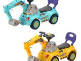 2014较新款儿童滑行车娃娃车挖挖车四轮车儿童车卡通车HT561