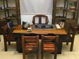 实木中式仿古家具 古船木茶桌椅厂家直销