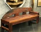 长沙老船木茶桌椅中式实木茶台功夫茶几户外古典客厅办公茶庄泡茶