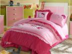 2014新款优质儿童全棉绣花四件套 卡通幼儿床上四件套