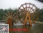 四川成都防腐木水车 大型景观水车 电驱动水驱动水车定制厂家
