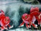易剑赋工笔金鱼作品。金鱼象征着财富,丰收喜庆,创业,婚嫁