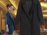 佟丽娅同款西装风衣外套 2015欧美大牌风中长款大衣 修身小西服