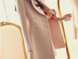 韩国2013新款毛呢外套女秋冬中长款呢外套呢子大衣气质修身 36