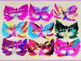批发 表演面具 舞会面具 猫脸面具 羽毛面具