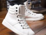 厂家直销韩版高帮鞋 2014男鞋 百搭男鞋支持一件代发一手货源