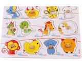 厂家直销 益智玩具 儿童拼板 木制质十二生肖认知手抓板拼图