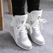 2014春款时尚女鞋 真皮单鞋 牛皮时尚高帮鞋 金属扣女式单鞋