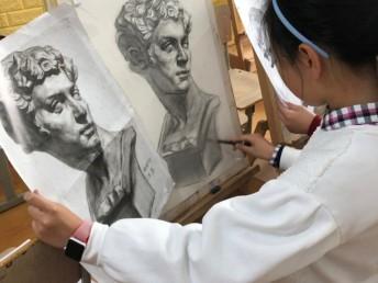黄浦徐家汇路创意美术儿童画素描美术素描培训毛笔书法