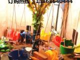 广场上8坐旋转秋千飞鱼//旋转飞鱼/广场游乐设备椰 子树 电动转