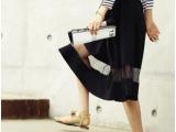 2014夏季新款 韩版透视欧根纱淑女长裙个性时尚拼接高腰半身裙