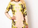 2013欧洲站秋装新款 大码显瘦长袖气质高端印花连衣裙 女士打底