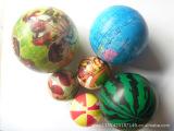 厂家网上批发填充球 橡胶发泡实心球  宜兴玩具