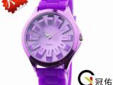 【外贸爆款】多色时尚硅胶手表 常规12色果冻菊花手表时尚女手表