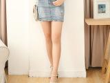 春装新款韩版女装牛仔短裙 修身显瘦半身性感牛仔包臀裙