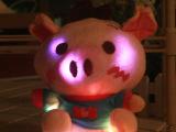 厂价直销七彩发光毛绒公仔 闪光小猪毛绒玩具 节日礼品 情侣礼物