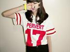 韩国2013夏装新款stylenanda条纹海军风字母17号学院风短袖T恤854
