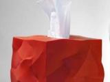 丹麦设计 创意褶皱纸巾抽/纸巾盒 纸巾盖