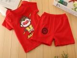 7元夏季爆款童套装 韩版纯棉童装短袖t恤两件套 童装低价批发