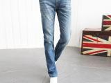 2014新款韩版潮男士牛仔裤修身直筒男装长裤青春流行显瘦男裤
