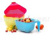 PP礼品篮 塑料沥水篮 水果收纳篮 可印LOGO
