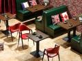 天津实木卡座沙发 板式卡座沙发 贴皮卡座沙发