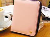 撞色短款钱包两折女士皇冠拉链钱包韩版2014新款潮卡包小包零钱包