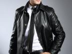 男士商务加绒真皮皮风衣气质修身海宁男式皮衣厂家招代理一件代发