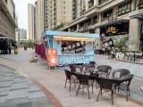 海南美食城流动售货车图片 果洛商业街奶茶售货亭价格