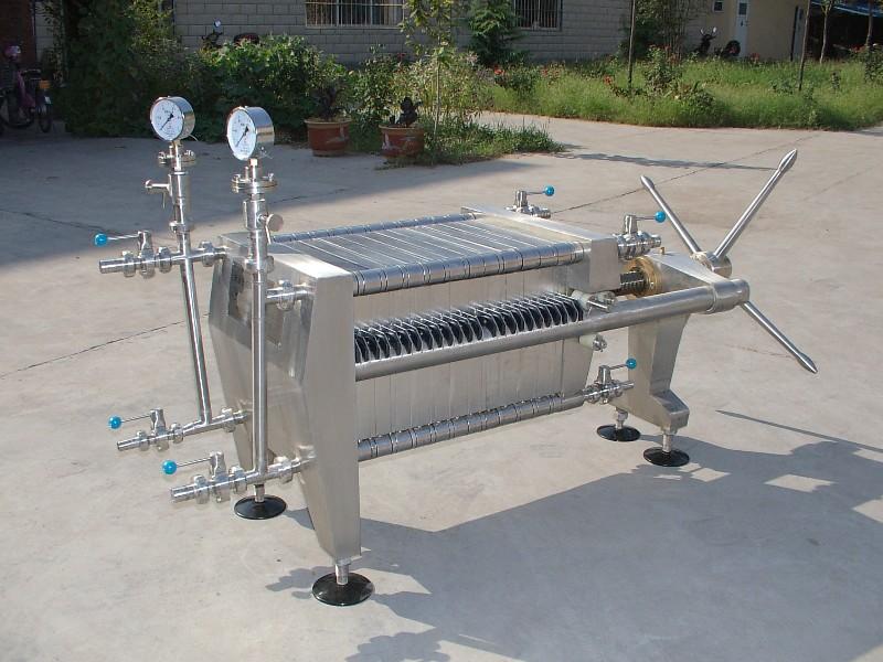 新乡不锈钢红酒用400 400型板框式硅藻土过滤机JGL01