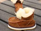 澳洲羊皮羊毛皮毛一体雪地靴牛筋底翻毛儿童鞋宝宝鞋男童鞋雪地鞋