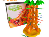 正版翻斗猴子益智桌面玩具 亲子儿童互动玩具翻滚猴子爬树往下掉