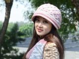 毛线帽子 女冬季 韩版 羊毛线帽子围巾两