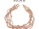 ROXI速卖通外贸畅销手饰首饰批发奥地利水晶玫瑰金多丝白钻手链