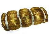 厂家直销线金葱吊牌挂件线8股金色空心线糖果袋抽绳7000米/KG