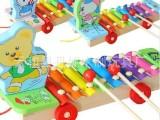 儿童手敲琴|手敲琴玩具|三款动物拖拉手敲琴
